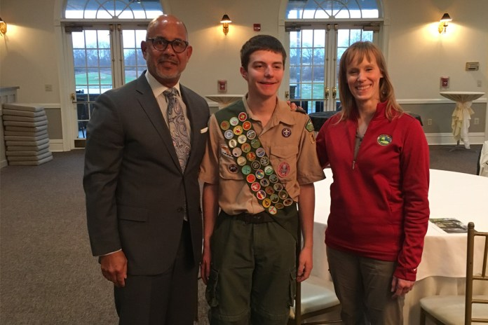 Mercer County Recognizes Eagle Scout for Community Project at Roebling Park