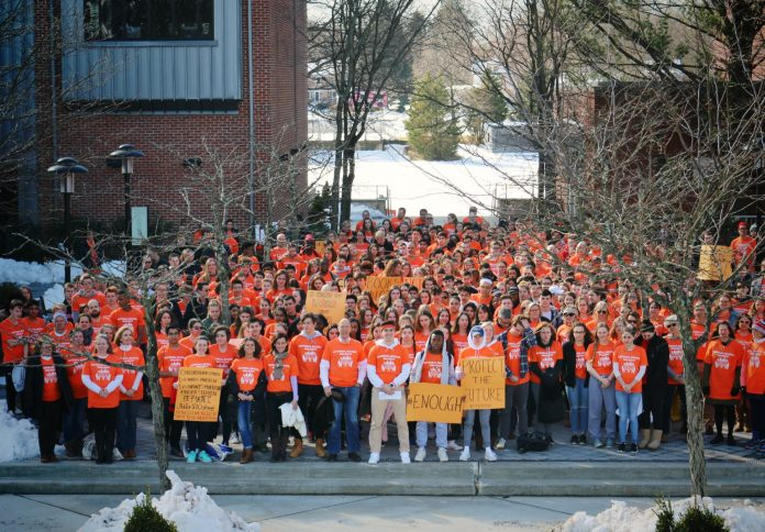 Pennington School Students Walk Out for School Safety (VIDEO)