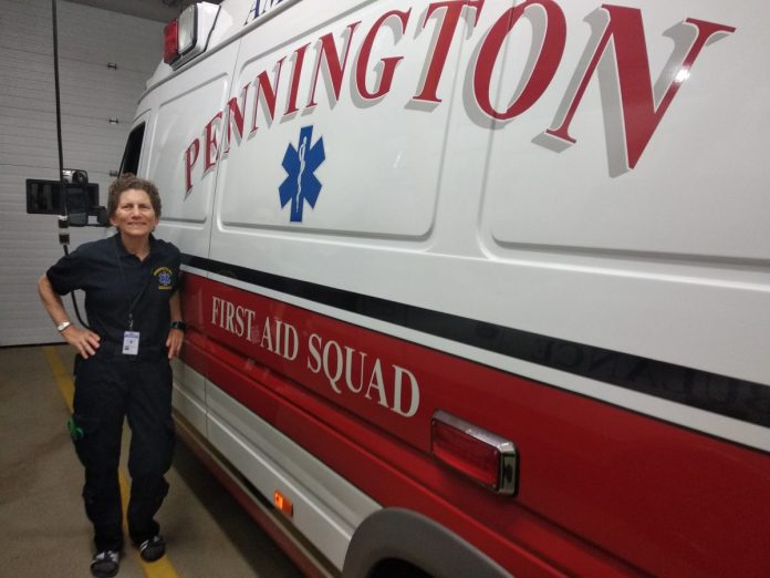 Meet Pennington First Aid Squad Volunteer EMT Shelley Pennington