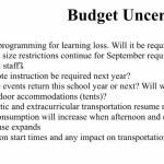 Budget uncertainties