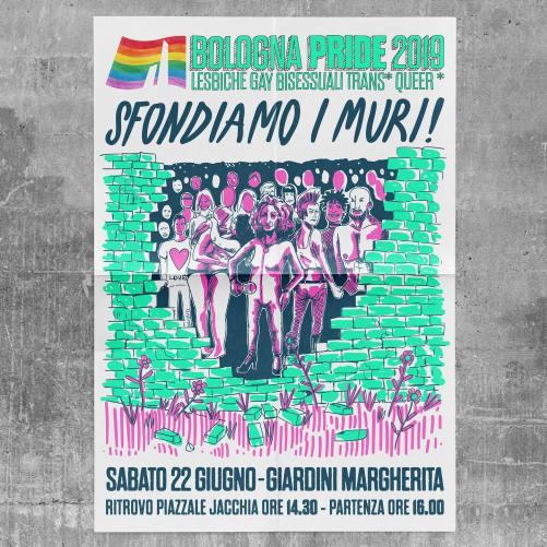 Campagna Ufficiale Bologna Pride 2019: Sfondiamo i muri!