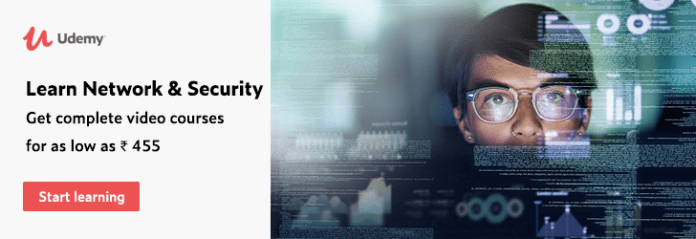 Learn Network & Security. Get complete video courses for as low as ₹ 455. udemy paid courses free