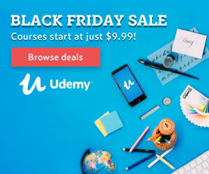 Udemy Black Friday Sale! Top Courses From $9.99