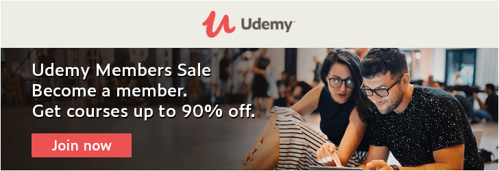 *Become a member! Get Udemy online video courses now at up to 90% off. Simple as that.