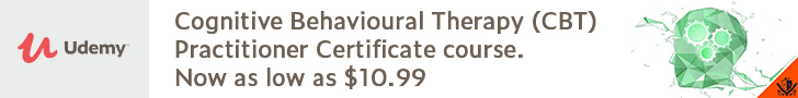 *Cognitive Behavioural Therapy (CBT) Practitioner Certificate course. Original Price $199.99 - now as low as $10.99