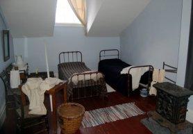 Servant's room in 19th century house museum