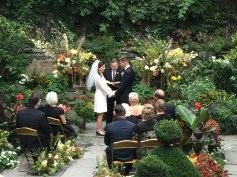 wedding ceremony in the garden