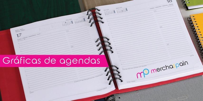 ¿Cuáles son las gráficas en las agendas personalizadas?