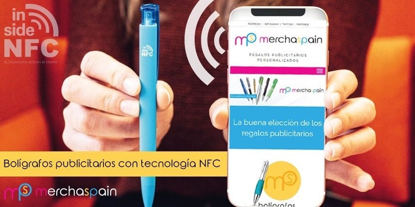 Bolígrafos publicitarios con tecnología NFC