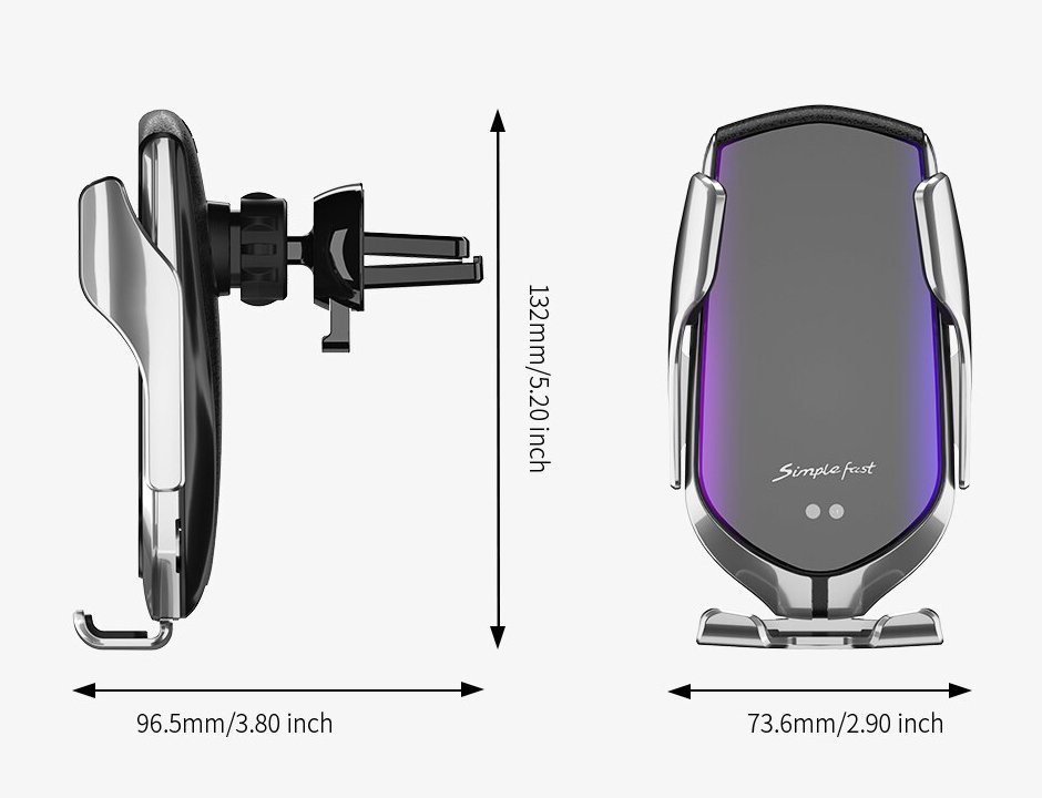 Automatic Clamping QI Wireless Car Charger Mount Infrared Sensor Fast Charging Holder For iPhone 8 X XR XS 11 Samsung S20 S10 S9