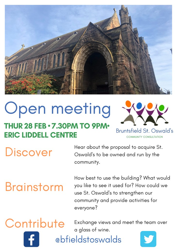Open Meeting 28 February: Community purchase of St Oswald's Church