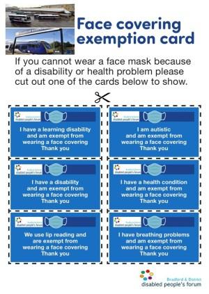 Public transport facemask exemptions!