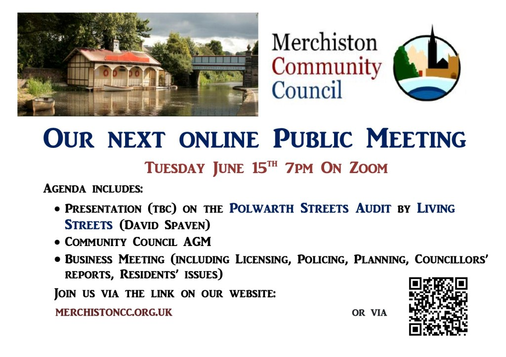 Poster advertising MCC Public Meeting