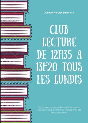 affiche club lecture 2020