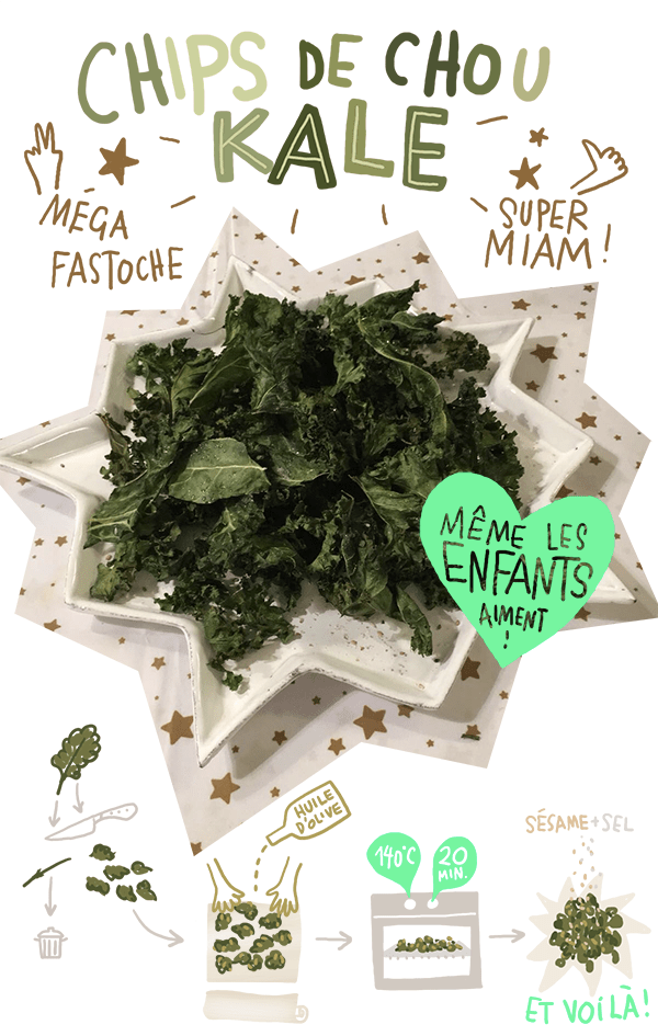 chips de chou kale au four