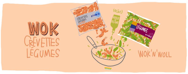 wok crevettes legumes