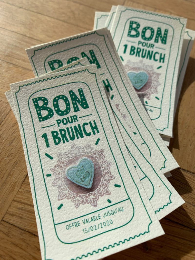 Ticket gagnant brunch