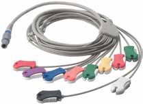 10-Lead Stress Patient Cable (AHA, pinch clip, for use w/ SE-PRO-600)