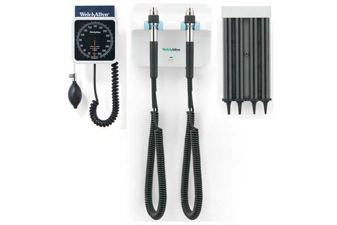 Welch Allyn Green Series 777 Wall Diagnostic System including Wall Aneroid Sphygmomanometer