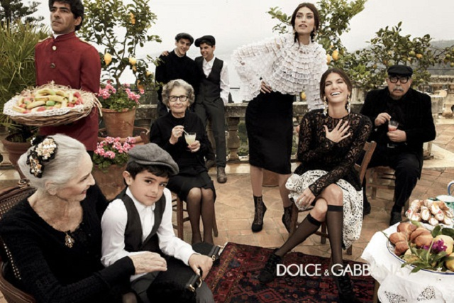 Dolce Gabbana D&G campagne La Famiglia 2012