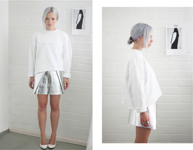 love aesthetics diy foil skirt