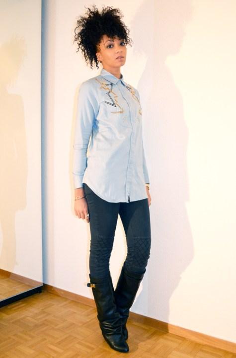 2-mercredie-blog-mode-beaute-chemise-circus-jean-denim-perles-bijoux-aldo-bague-zara-boots-bottes-givenchy-ersatz-afro-hair-mohawk