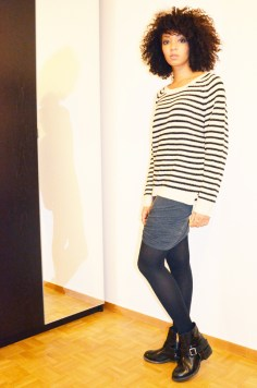 mercredie-blog-mode-boots-jules-allsaints-jupe-plissee-ebay-isabel-marant-ersatz-vanessa-bruno-afro-nappy-hair-mariniere