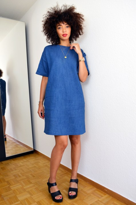 mercredie-blog-mode-geneve-robe-cos-denim-sandales-choies-black-cuir-leather-Block-Sandals-afro-cheveux-hair-natural-nappy-curly-frises
