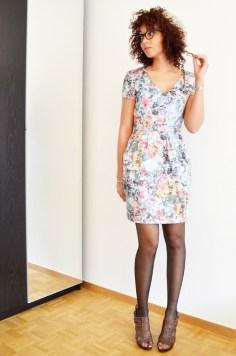 mercredie-blog-mode-robe-hm-roseanna-ersatz-bata-afro-hair-cheveux-nappy-rayban-cateye-5226-red-cherry-cerise-rouge-olia