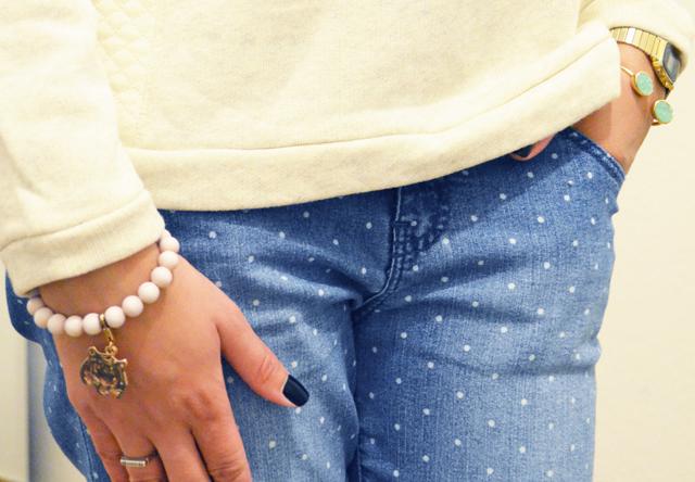 mercredie-blog-mode-beaute-jean-pois-forever21-zalando.ch-suisse-boots-zign-zip-pistol-acne-zara-bracelet-rose-tigre
