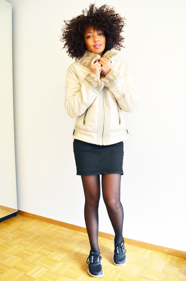 mercredie-blog-mode-beaute-suisse-geneve-sweat-bambi-topshop-emma-cook-jupe-zip-zara-running-nike-free-run-afro-hair-cheveux-blouson-beige-bershka-aviateur