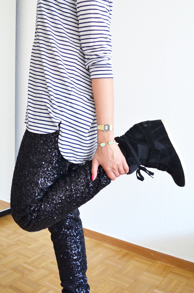 mercredie-blog-mode-geneve-suisse-mariniere-h&m-pantalon-legging-sequins-rayban-cateye4-ash-bowie-black