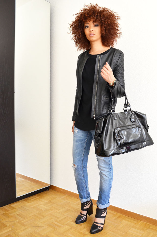 mercredie-blog-mode-geneve-suisse-pull-bear-sandales-talons-afro-hair-cheveux-zara-jean-boyfriend-blouson-cuir-bel-air-sac-longchamp-legende-xl