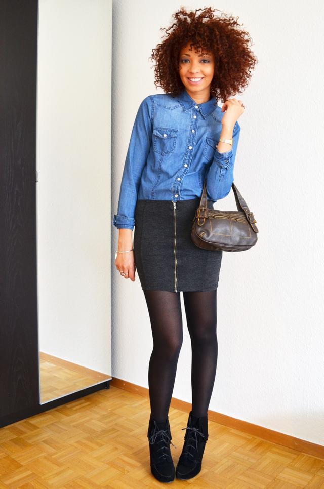 mercredie-blog-mode-suisse-geneve-fashion-blogger-denim-shirt-chemise-jennyfer-jupe-taille-haute-mango-ash-ersatz-afro-hair-cheveux-nappy2