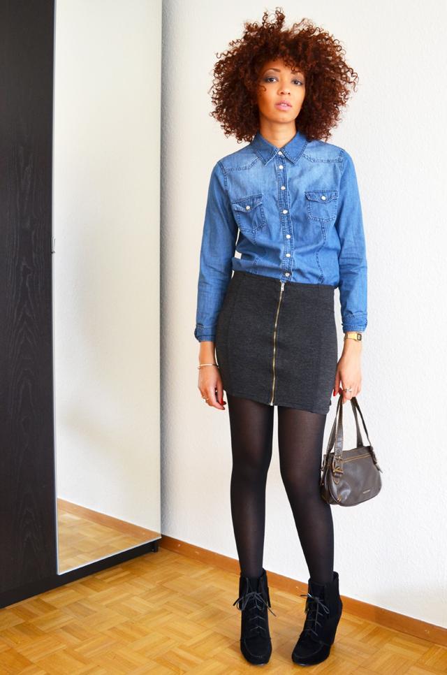 mercredie-blog-mode-suisse-geneve-fashion-blogger-denim-shirt-chemise-jennyfer-jupe-taille-haute-mango-ash-ersatz-afro-hair-cheveux-nappy4