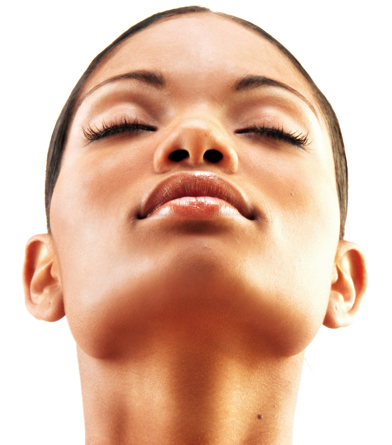 black skin care-woman