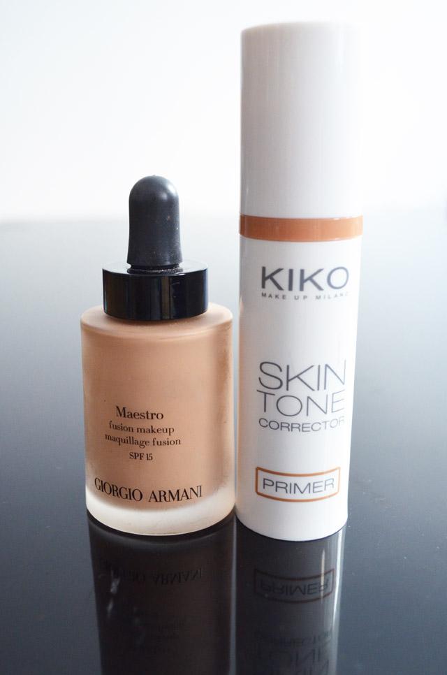 mercredie-blog-mode-beaute-makeup-maquillage-astuce-teint-fond-teint-trop-clair-kiko-skintone-primer-test-avis-armani-maestr2