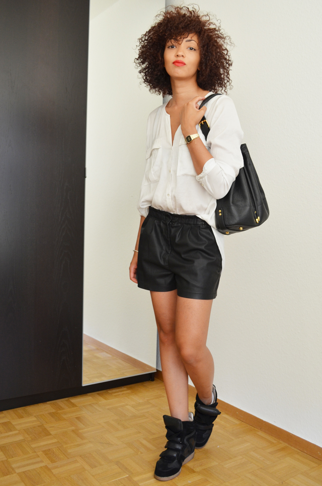 mercredie-blog-mode-geneve-suisse-chemise-blanche-short-cuir-h&m-isabel-marant-beckett-black6