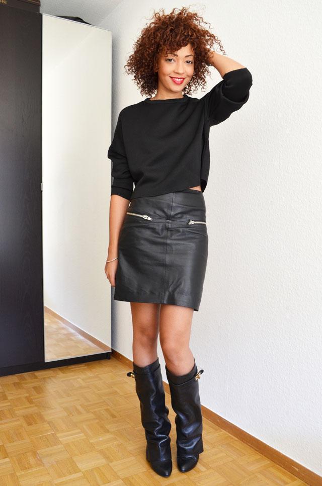 mercredie-blog-mode-geneve-suisse-boots-bottes-choies-givenchy-shark-ersatz-jupe-cuir-zip-h&m-pull-crop-top-zara-20132
