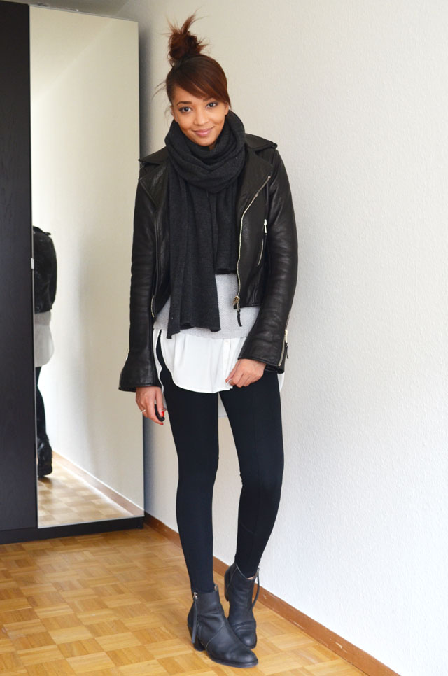 mercredie-blog-mode-geneve-suisse-fashion-blogger-zara-pistol-acne-look-outfit-american-apparel-legging-harlem-balenciaga-perfecto-biker-jacket-cuir-leather-black-silver-zips-zippers-argent3