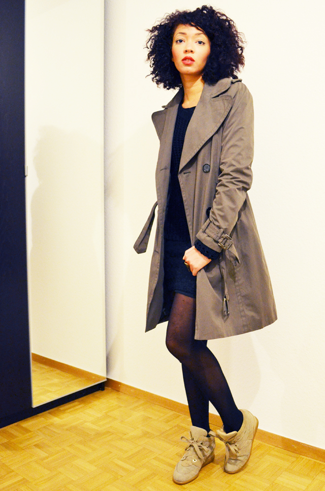 mercredie-blog-mode-beaute-trench-kaki-zara-sneakers-bobby-isabel-marant-beige-like-ersatz-primark-pull-maille-bantu-knot-afro-hair-cheveux-profil