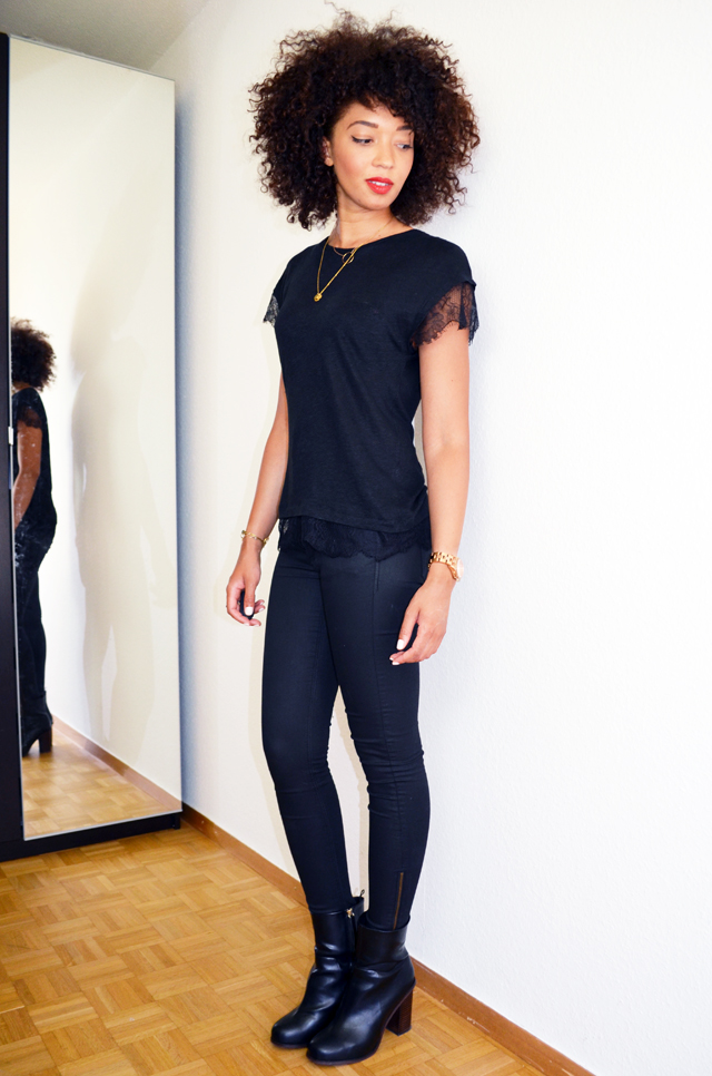 mercredie-blog-mode-bloggeuse-geneve-suisse-slim-all-black-boots-h&m-top-dentelle-zara-afro-natural-hair-nappy