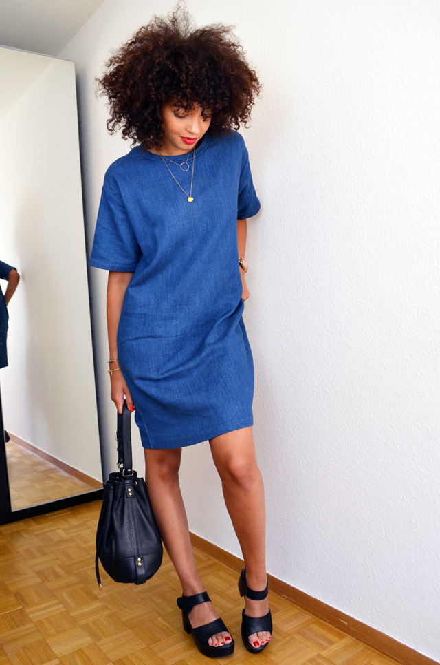 mercredie-blog-mode-geneve-robe-cos-denim-sandales-choies-black-cuir-leather-Block-Sandals-afro-cheveux-hair-natural-nappy-curly-frises-sac-seau-bourse-apc2