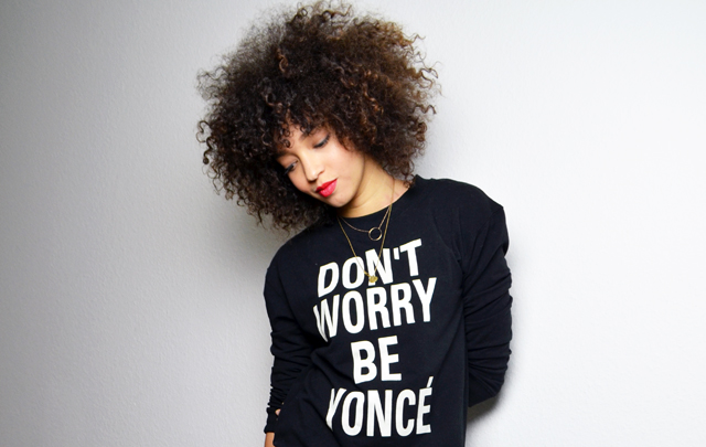 mercredie-blog-mode-geneve-sweat-shirt-sheinside-dont-worry-be-yonce-beyonce-curly-afro-natural-curls-hair