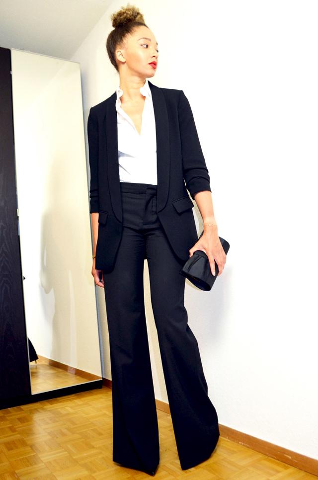 mercredie-blog-mode-geneve-bun-afro-cheveux-flare-suit-blazer-zara-pochette-123-paris-emily-mac-russian-red-lipstick-matte2