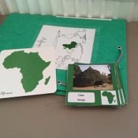 Géographie: à la découverte des continents (façon Montessori)