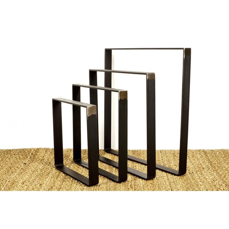 pied de table carre en metal brut industriel fabrique en fer plat