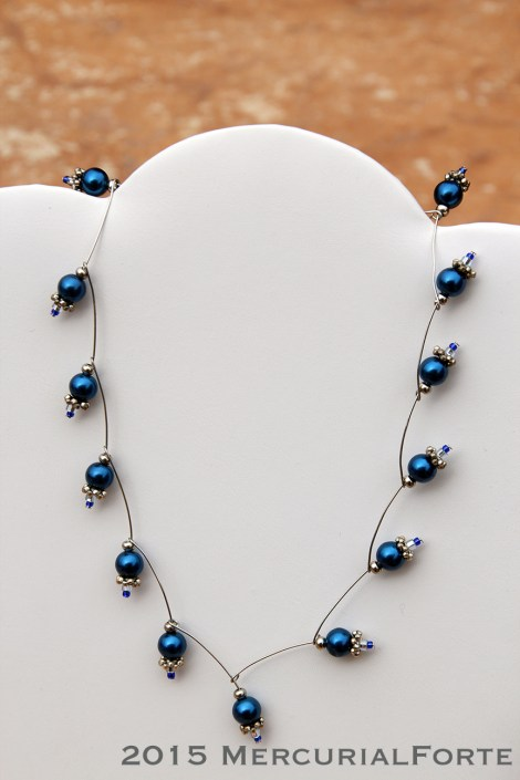 Curved Pin Necklace