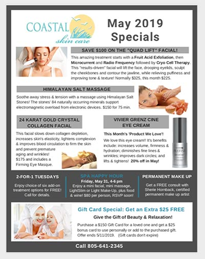Coastal Skin Care Day Spa - Featured For May: The Quad Facial - Four Treatments In One!