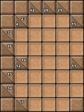 Sample Kakuro Puzzle